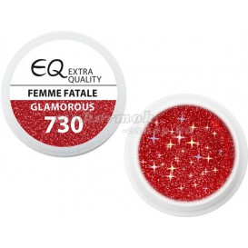 Extra Quality GLAMOURUS farebný UV gél - FEMME FATALE 730, 5g