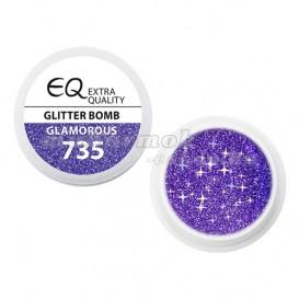 Extra Quality GLAMOURUS farebný UV gél - GLITTER BOMB 735, 5g