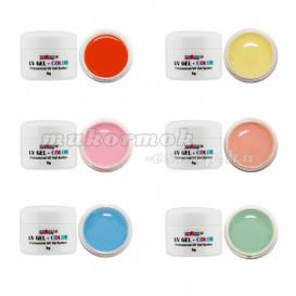 6ks sada - farebné pastelové UV gély