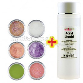 Sada Glitter Color II. 6ks + Acryl Liquid 100ml ZADARMO