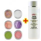 Sada Glitter Color II. 6ks + Acryl Liquid 100ml ZADARMO