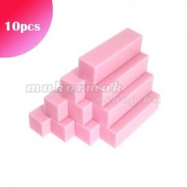 10ks - Blok - ružový, 80/80 - 4-stranný
