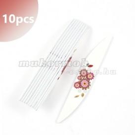 10ks - Professionálny pilník na nechty - vlnový s kvetmi 80/80