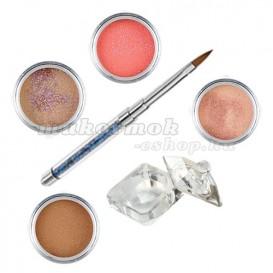 Sada Natural glitter- sada farebných akrylových práškov