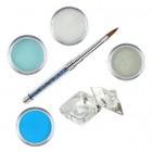 Sada Blue-Green- sada farebných akrylových práškov