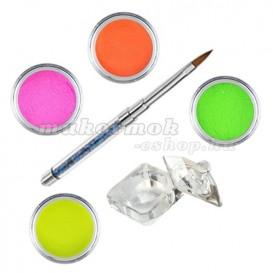 Sada Neon - sada farebných akrylových práškov