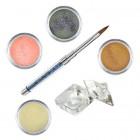 Sada Glitter- sada farebných akrylových práškov