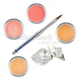 Sada Soft glitter- sada farebných akrylových práškov