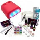 Set na gélové nechty - 3-fázový systém, 36W červená UV lampa