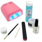 1-fázový UV gel systém - sada na nechty BASIC, 36W ružová UV lampa