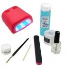 1-fázový UV gel systém - sada BASIC, 36W červená UV lampa