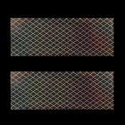 Ozdobná fólia na nechty - holografická s mriežkou