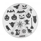 Doštička na pečiatkovanie nechtov DXE20 - Halloween