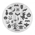 Doštička na pečiatkovanie nechtov DXE19 - Halloween