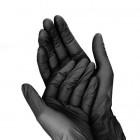 Čierne jednorazové rukavice M/10ks