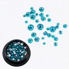 Swarovski kryštáliky na nail art 1-5mm - Blue