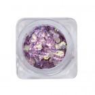 Ozdoby na nechty – šesťhran - tmavo fialový