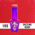 MOLLY LAC UV/LED gél lak Hearts and Kisses - Dazzling Heart 195, 10ml