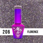 MOLLY LAC UV/LED gél lak Sensual - Florence 206, 10ml