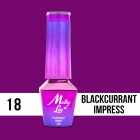 MOLLY LAC UV/LED gél lak Cocktails and Drinks - Blackcurrant Impress 18, 5ml