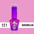 MOLLY LAC UV/LED gél lak Yoghurt - Marshmallow 121, 10ml