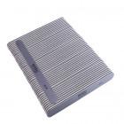 50ks-Pilník na nechty, sivý rovný s čiernym stredom, umývateľný a dezinfikovateľný 80/80
