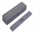 10ks-Pilník na nechty, sivý obdĺžnik s čiernym stredom, umývateľný a dezinfikovateľný80/80