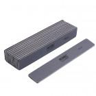 10ks-Pilník na nechty, sivý obdĺžnik s čiernym stredom, umývateľný a dezinfikovateľný 100/180