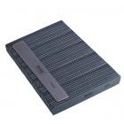 50ks-Pilník na nechty, sivý obdĺžnik s čiernym stredom, umývateľný a dezinfikovateľný 100/180