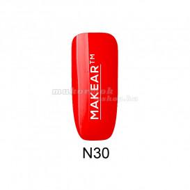 Farebný gél lak - Neon rose red - N30, 8ml