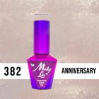 MOLLY LAC UV/LED gél lak Wedding Dream and Champagne  - Anniversary 382, 10ml