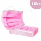 10ks, Rúško s gumičkou - ružové, 3-vrstvové
