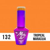 MOLLY LAC UV/LED gél lak Bubble Tea -  Tropical Maracuja 132, 10ml