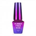 Modelovací UV/LED Gél Lak, Báza Rubber Fiber Base - Pink Glam, 10ml
