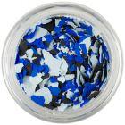 Nepravidelné tvary - svetlomodré, modré, čierne