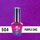 MOLLY LAC UV/LED gél lak Bling It On - Purple Chic 504, 10ml