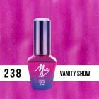 MOLLY LAC UV/LED gél lak Glowing Time - Vanity Show 238, 10ml