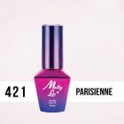 MOLLY LAC UV/LED gél lak Madame French - Parisienne 421, 10ml
