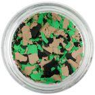 Nepravidelné tvary - hnedé, zelené, čierne