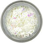 Ozdobné konfety - biele srdiečka