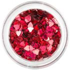 Ozdobné konfety - tmavočervené srdiečka