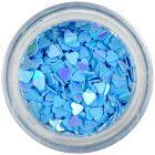 Ozdobné konfety - modré srdiečka