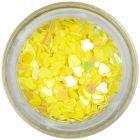 Ozdobné konfety - žlté srdiečka