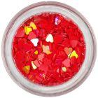 Ozdobné konfety - červené srdiečka