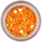 Flitrové srdiečka - oranžové