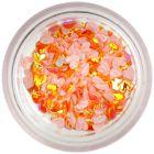 Ozdobné látkové konfety - oranžové srdiečka