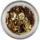 Kvietky s dierkou - zlaté, hologram