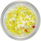 Nechtové látkové ozdoby - žlté srdiečka