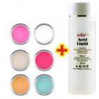 Sada Mix Color 6ks + Acryl Liquid 100ml ZADARMO