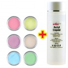 Sada Pastel Color 6ks + Acryl Liquid 100ml ZADARMO